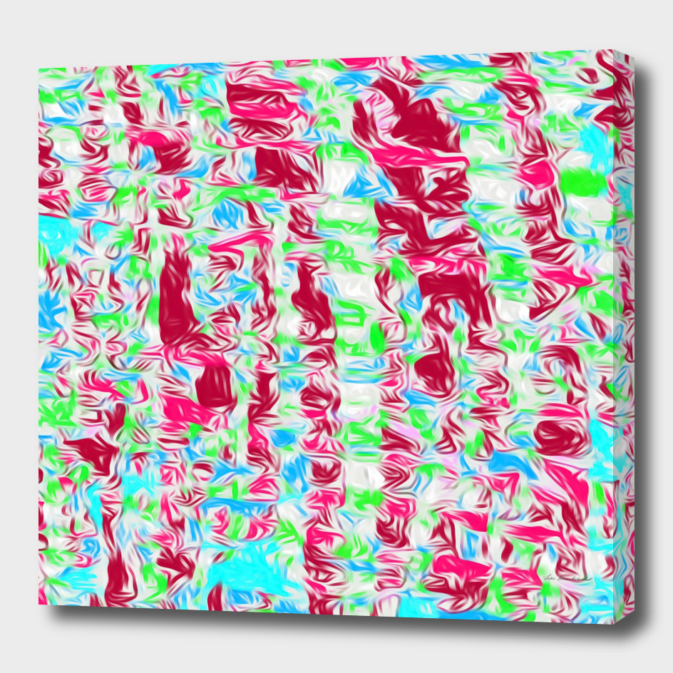 psychedelic splash painting pattern abstract in pink blue