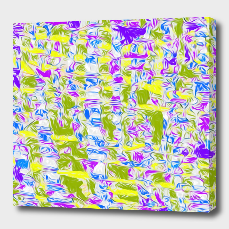 psychedelic painting texture abstract in purple yellow pink