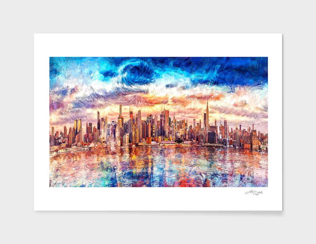 Artistic - Cityscape Art Starry Style