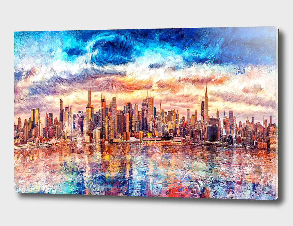 Artistic - Cityscape Art Starry Style