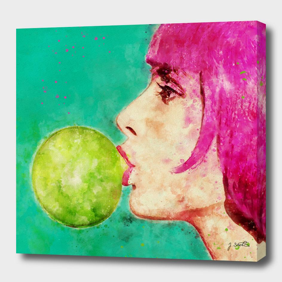 Bubble gum girl