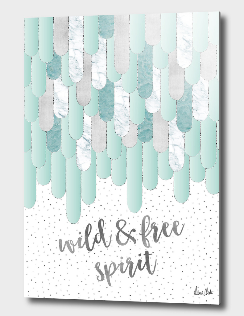 Graphic Art Feathers WILD & FREE SPIRIT | mint