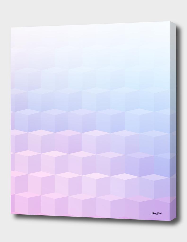 Pastel Cube Pattern Ombre 1.