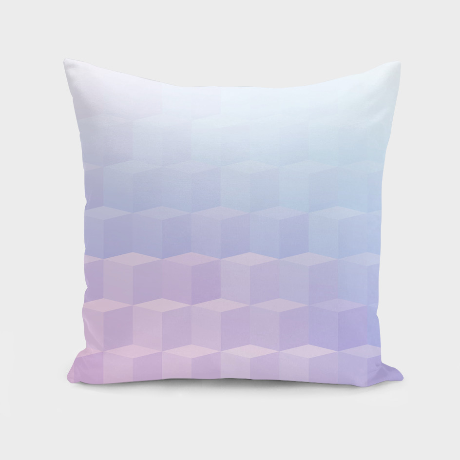 Pastel Cube Pattern Ombre 1.