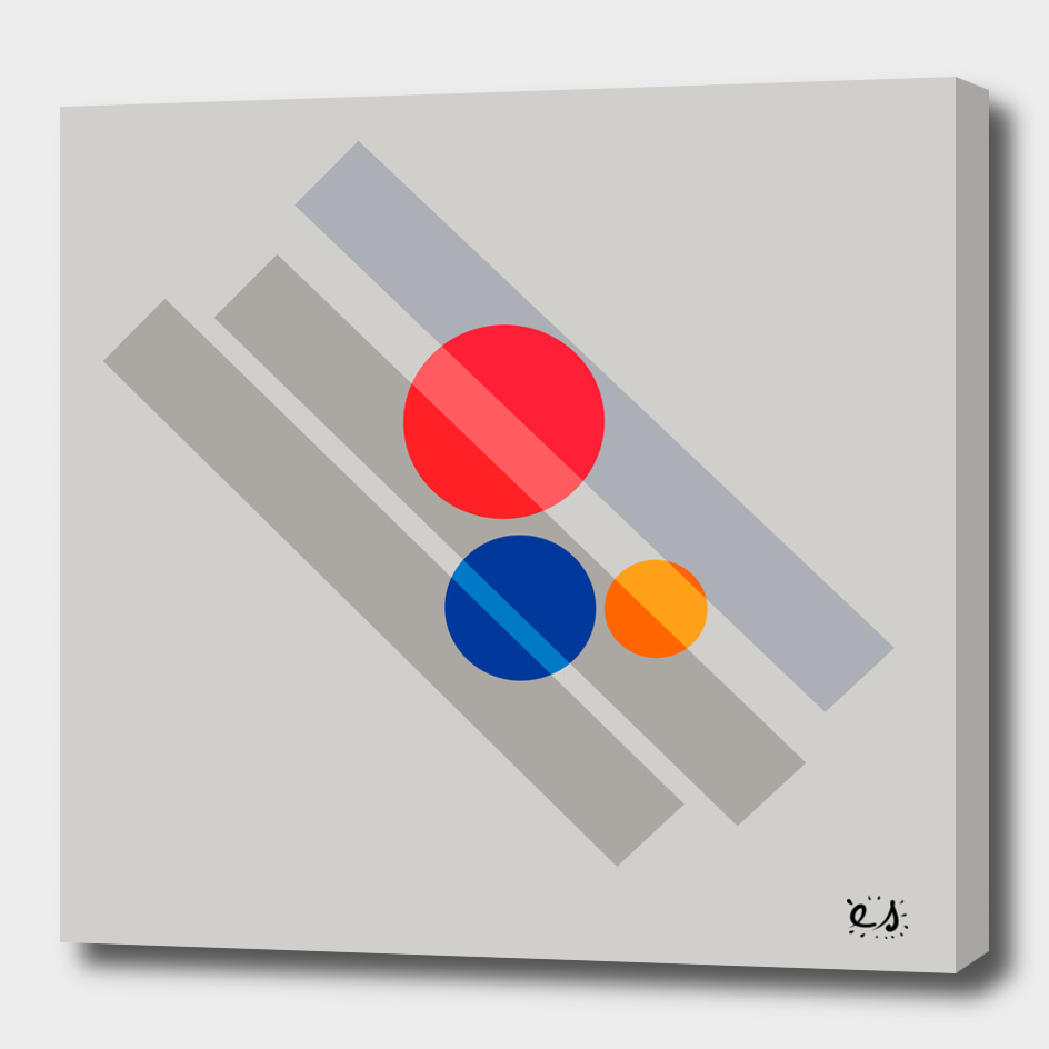 Suprematism Abstract Red Blue Yellow