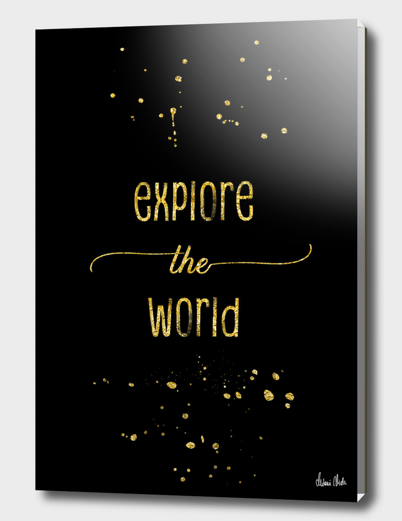 TEXT ART GOLD Explore the world