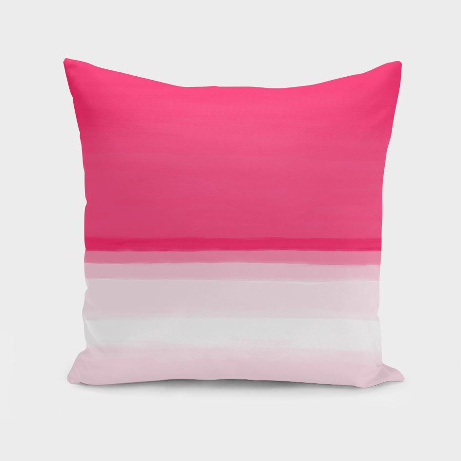 Pink Ombre Seascape Illustration