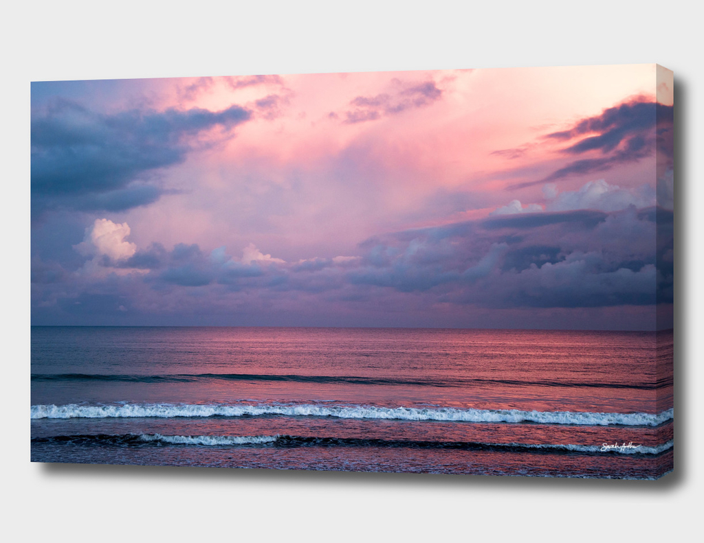Pink Sunset at the beach