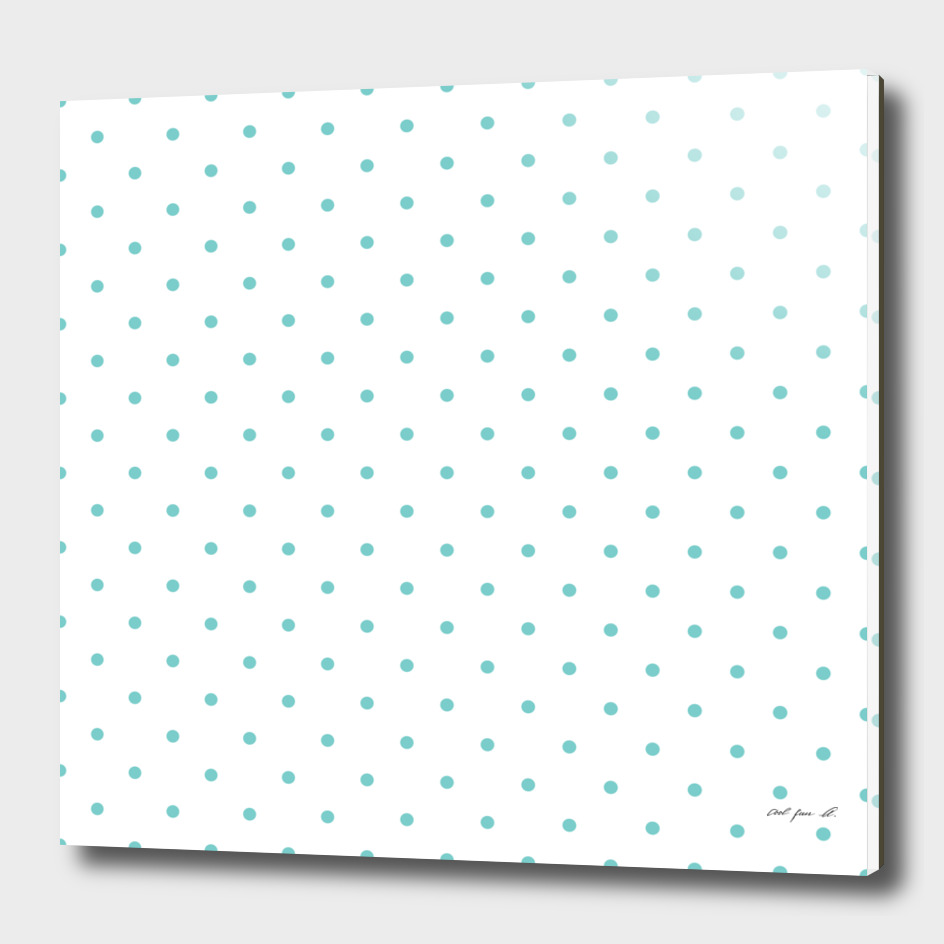 Small Aqua Polka Dots Pattern