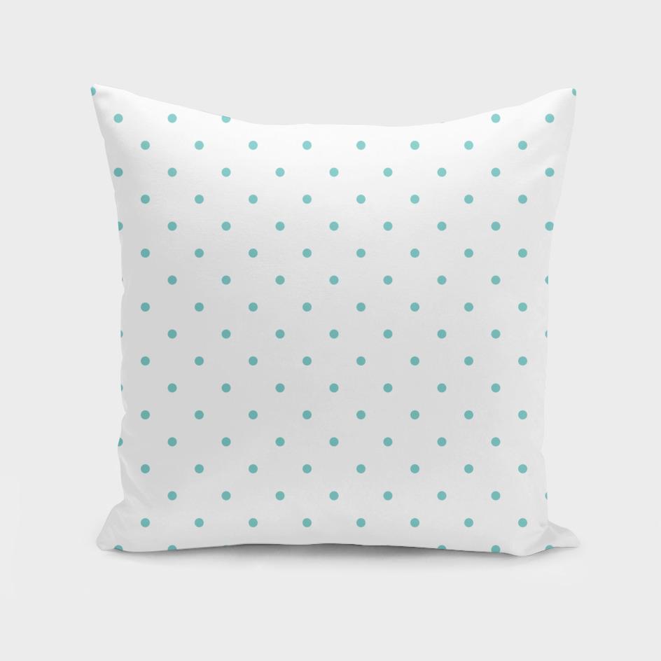 Small Aqua Polka Dots Pattern