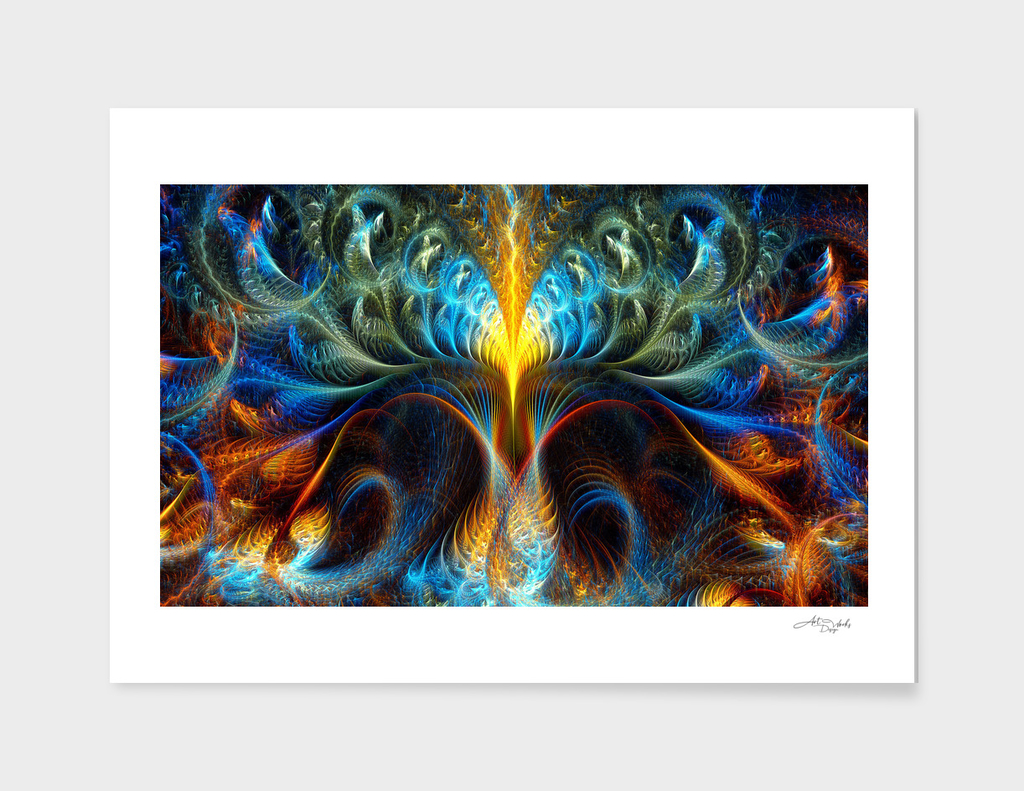 Tree of life - fractal abstraction