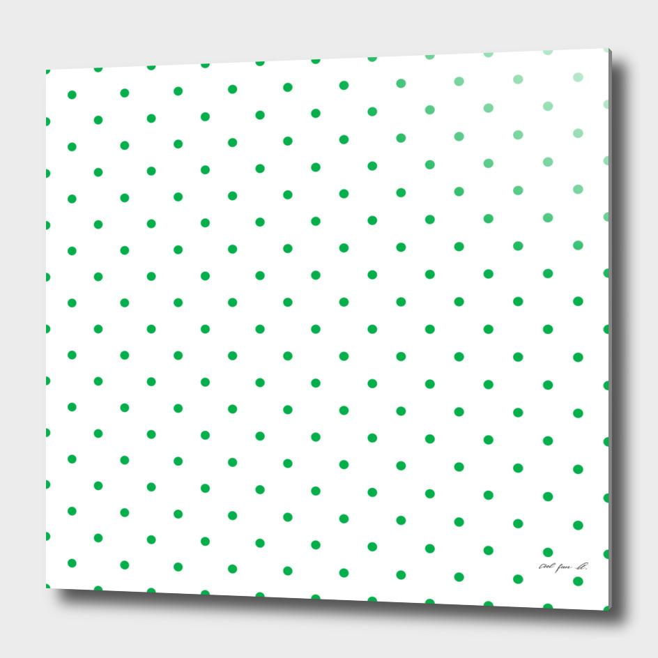 Small Green Polka Dots Pattern