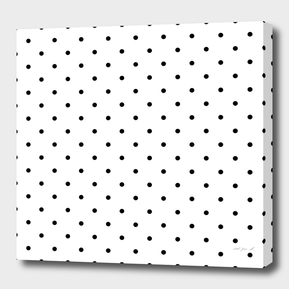 Small Black Polka Dots Pattern