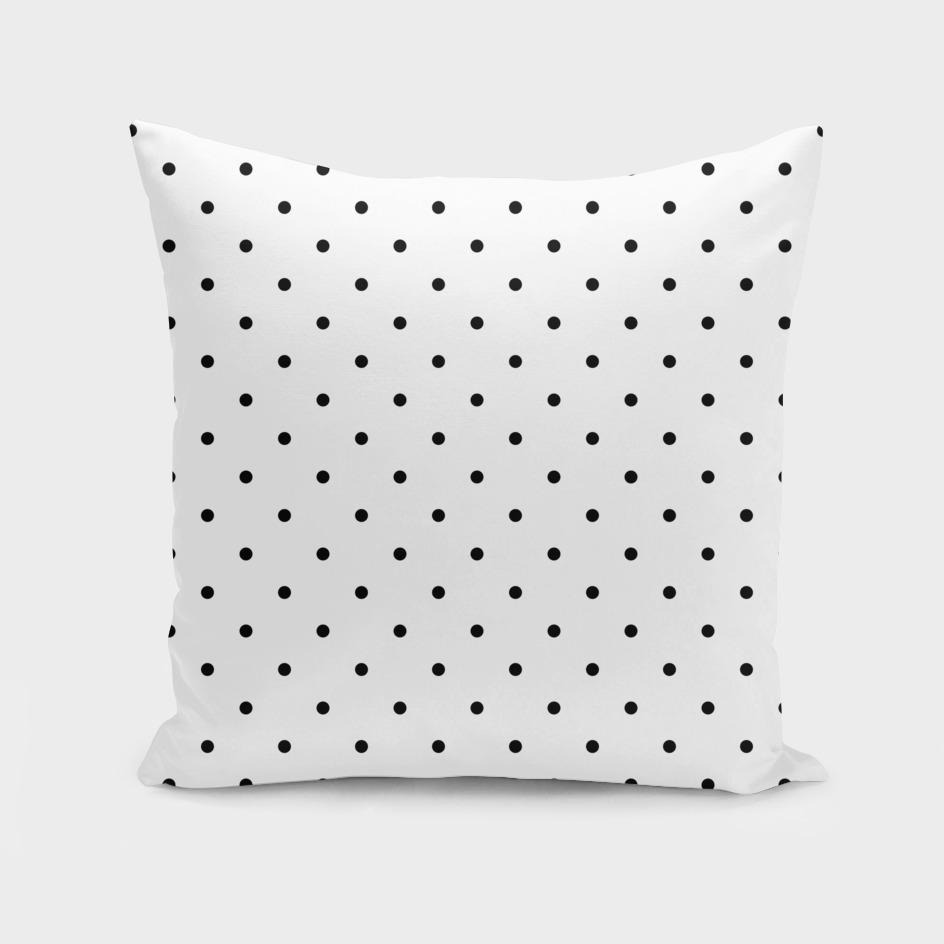 Small Black Polka Dots Pattern