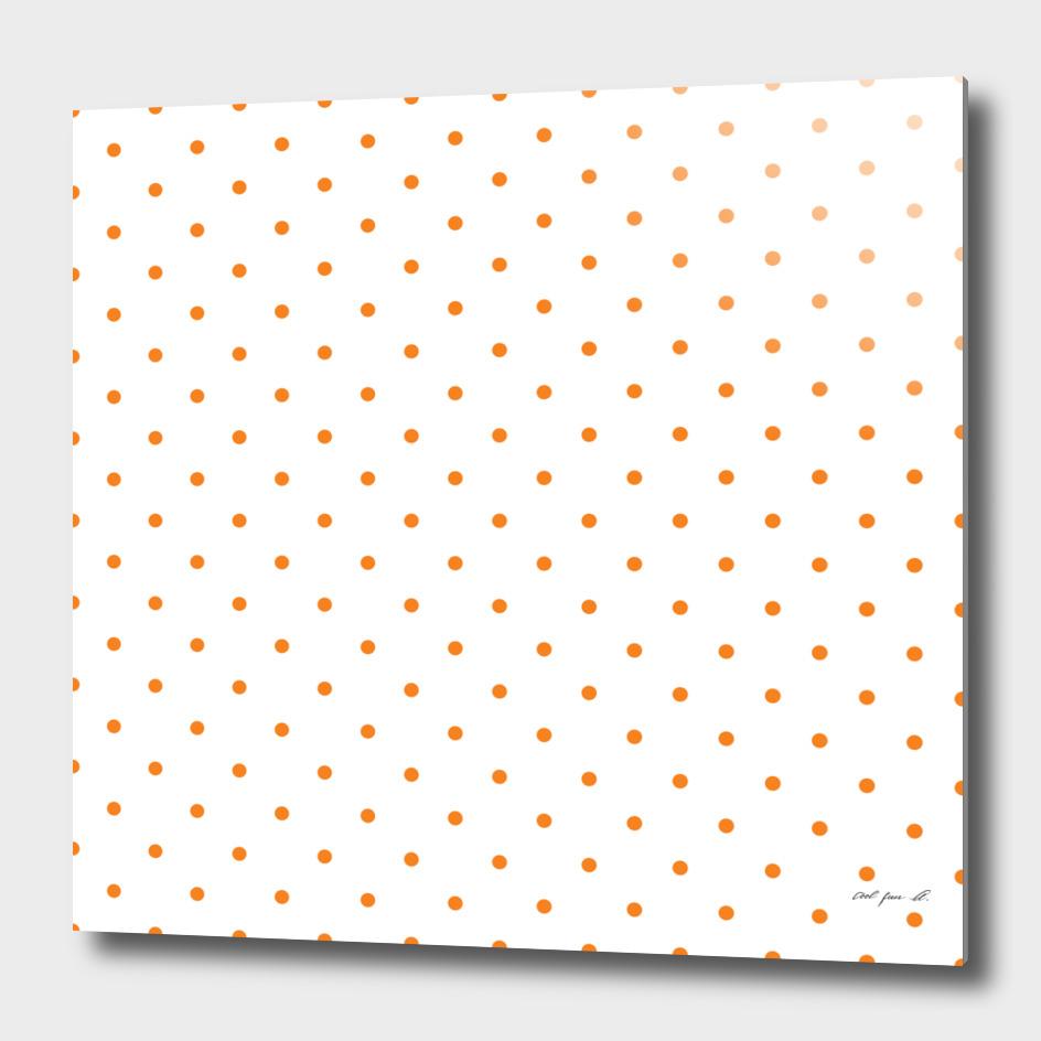 Small Orange Polka Dots Pattern