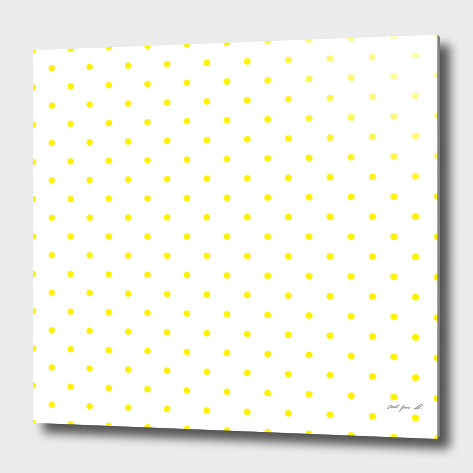 Small Yellow Polka Dots Pattern