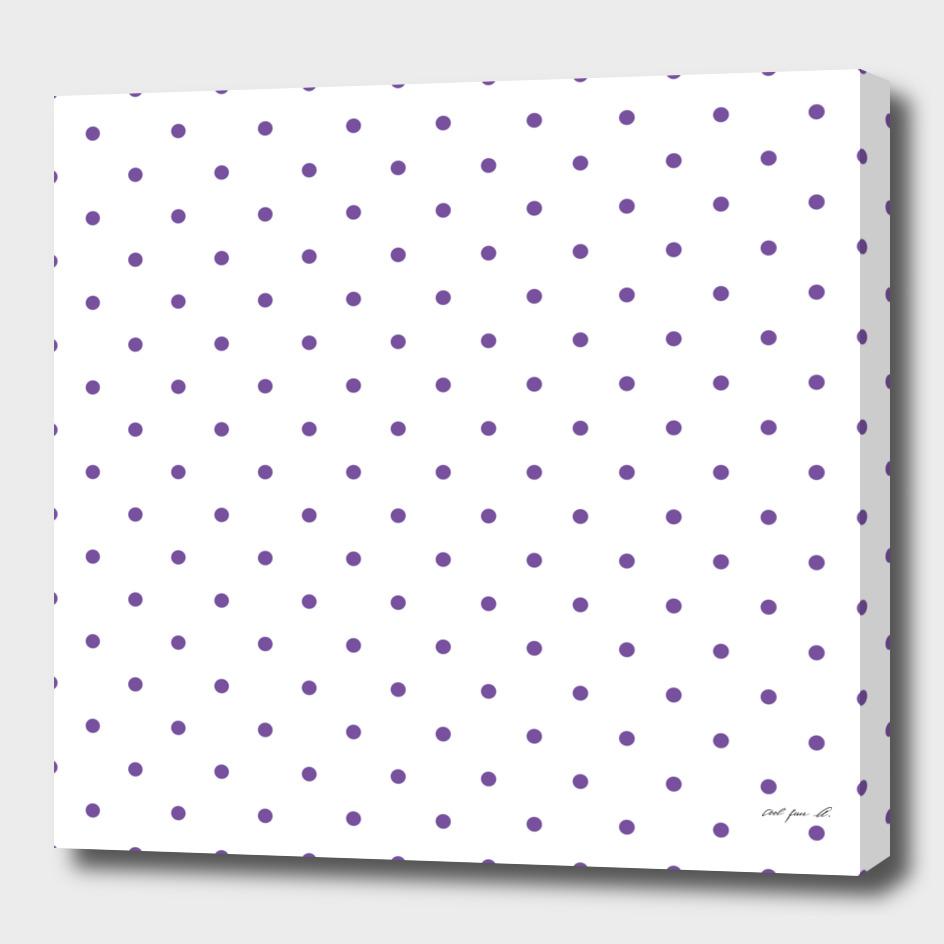 Small Purple Polka Dots Pattern