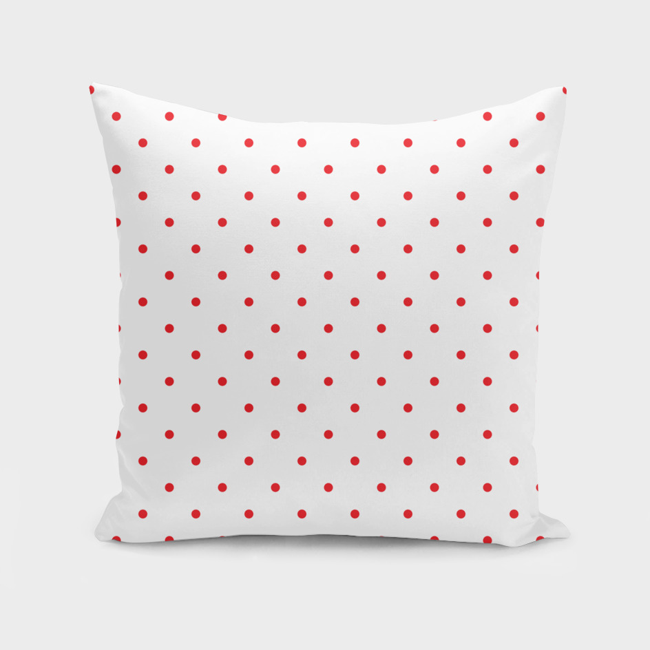 Small Red Polka Dots Pattern