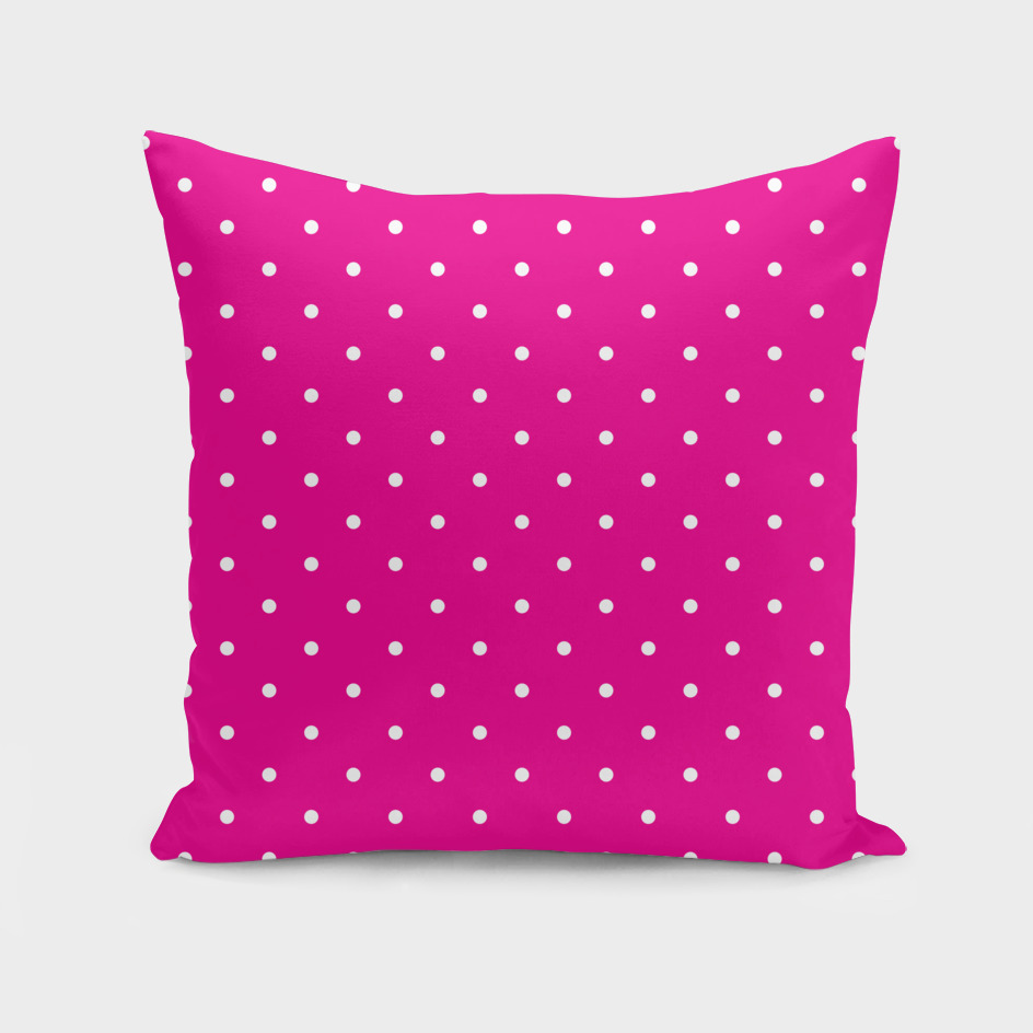 Small White Polka Dots with Pink Background