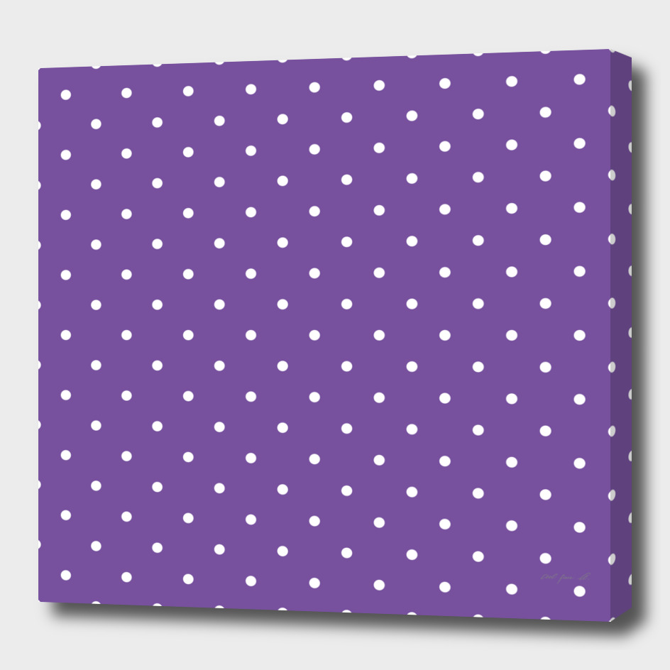 Small White Polka Dots with Purple Background