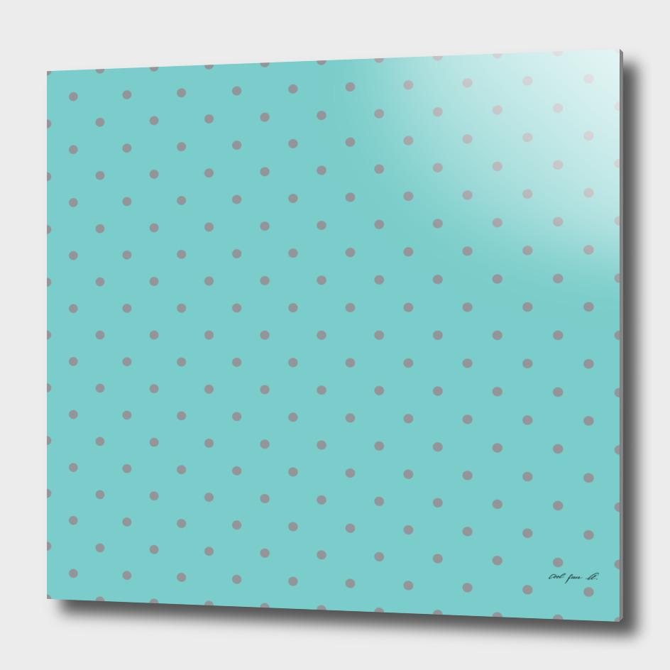 Small Grey Polka Dots with Aqua Background