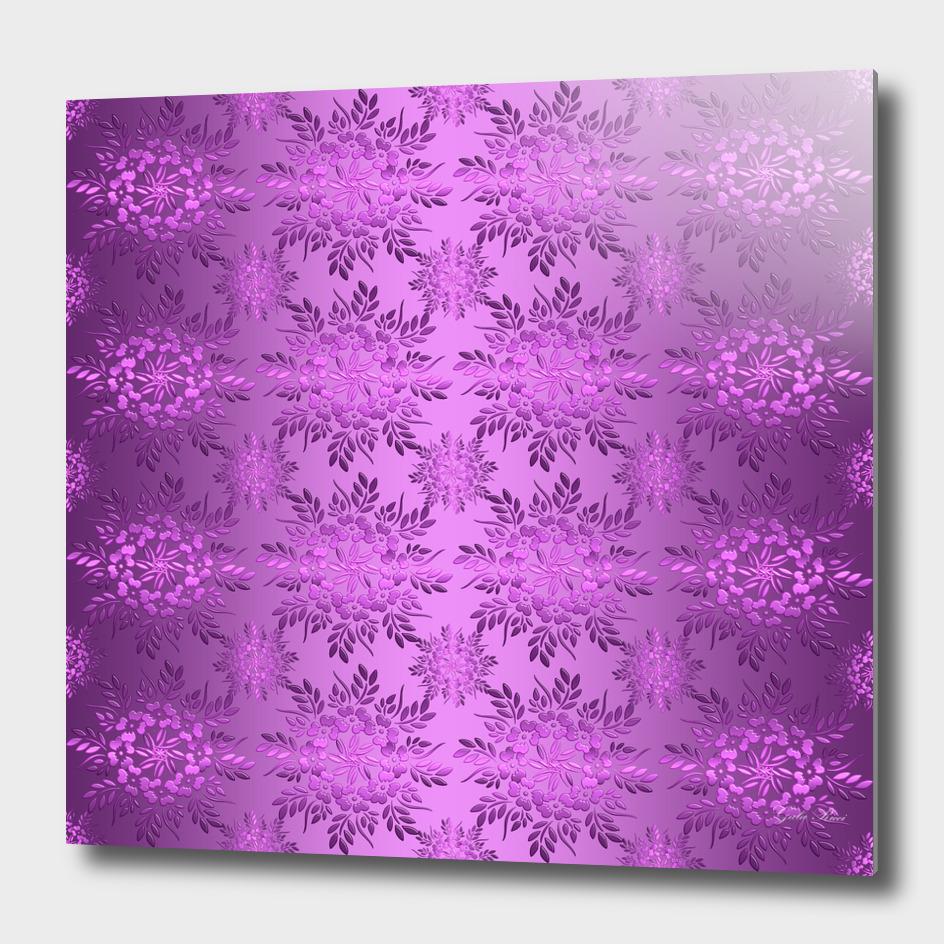 Floral bàroqùe violet pattern