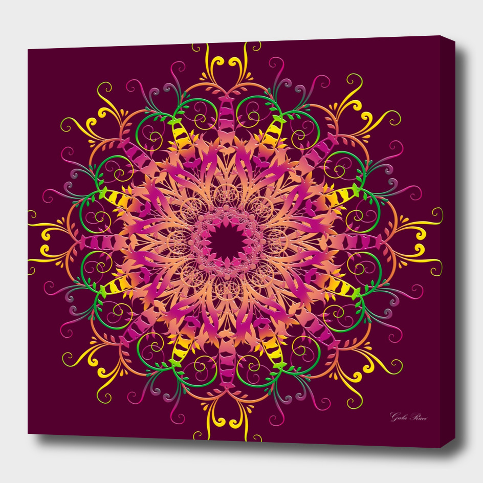 ethnic  floral mandala