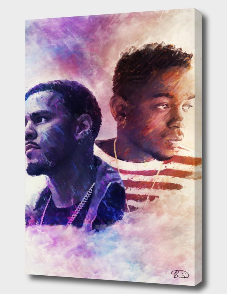 J. Cole and Kendrick Lamar