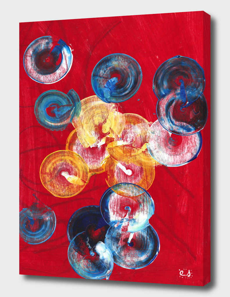 Red Abstract Circles