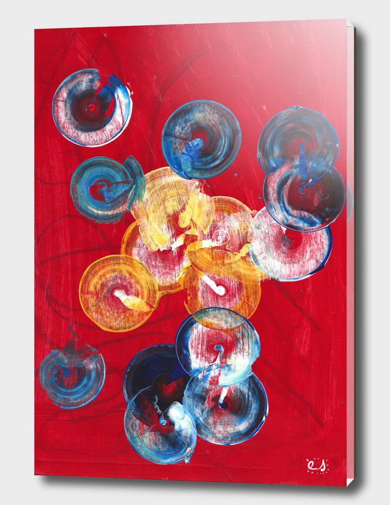 Red Abstract Circles