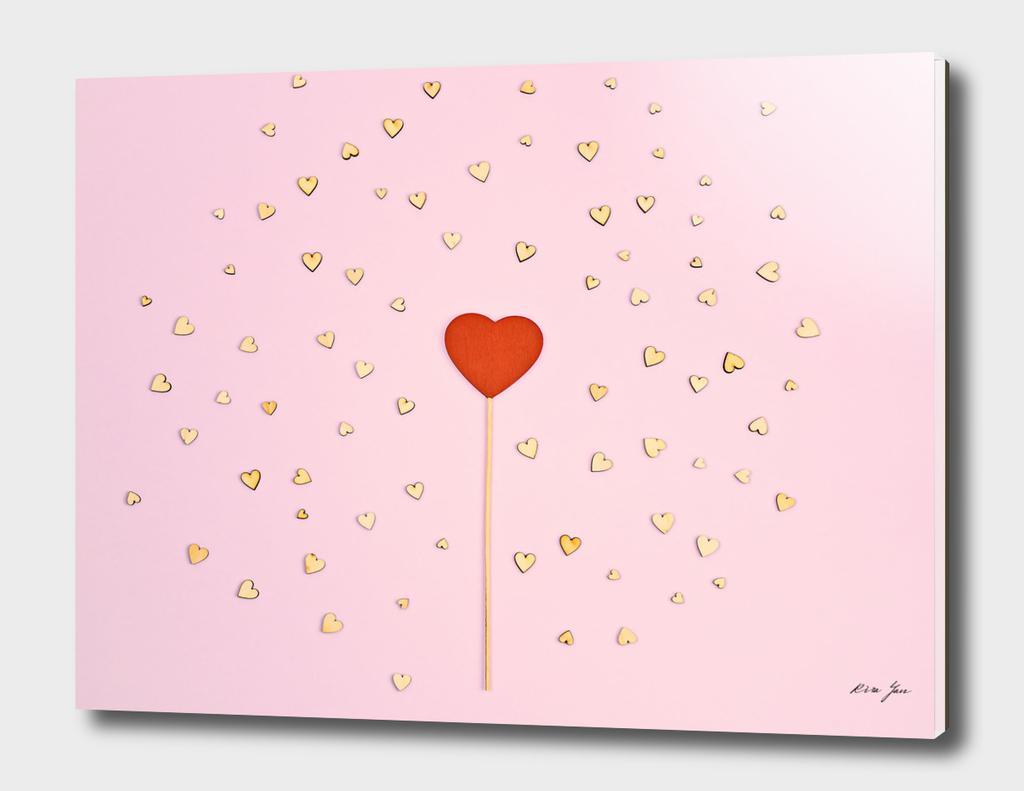 Abstract Valentine's day pink background