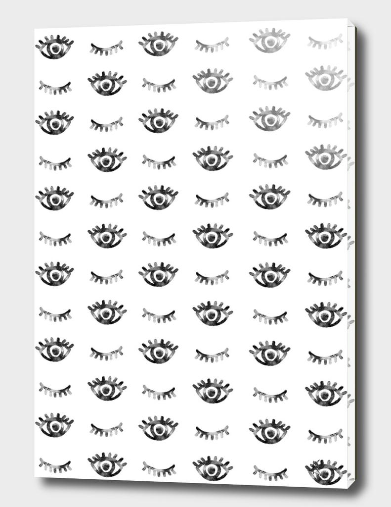 eyes eyelashes pattern