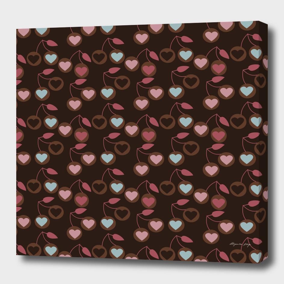 heart cherries brown