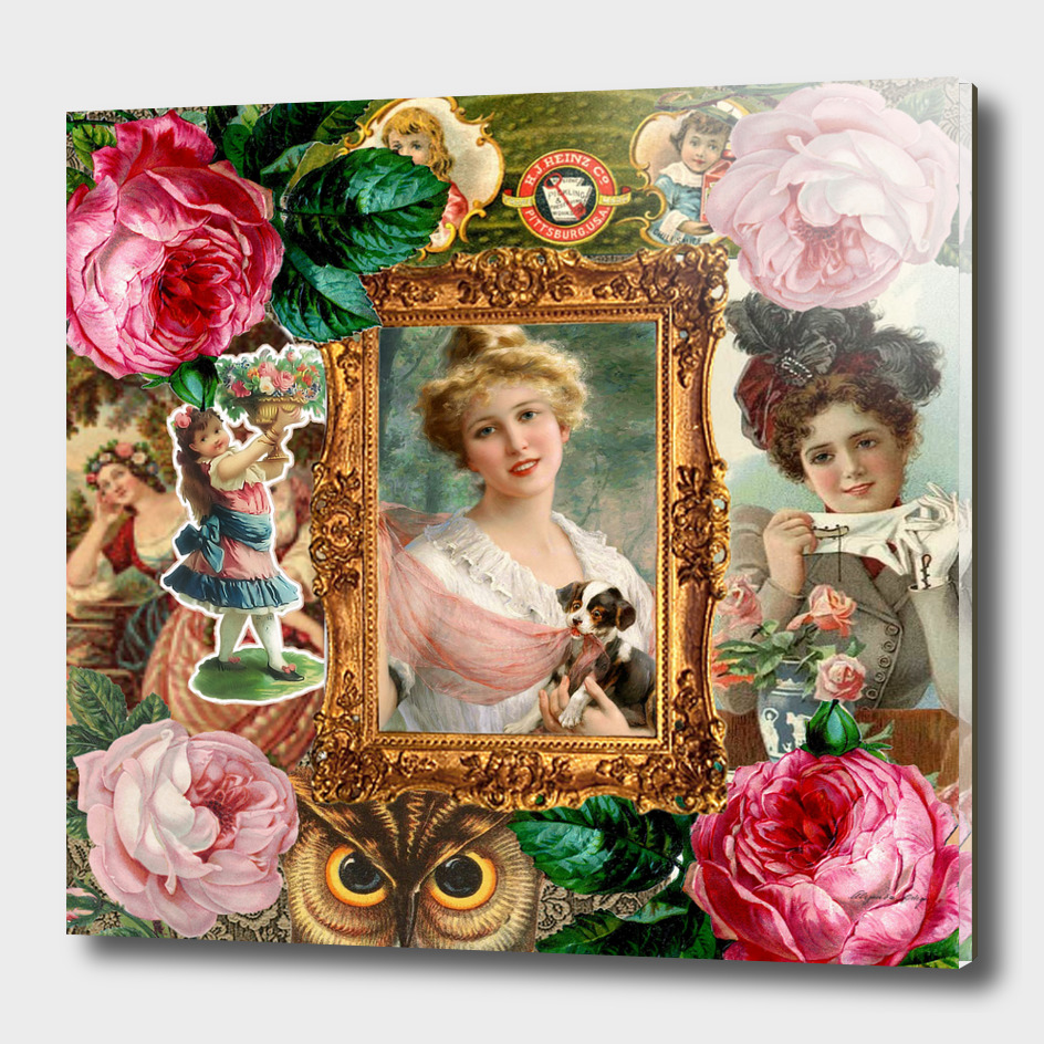 victorian collage of woman