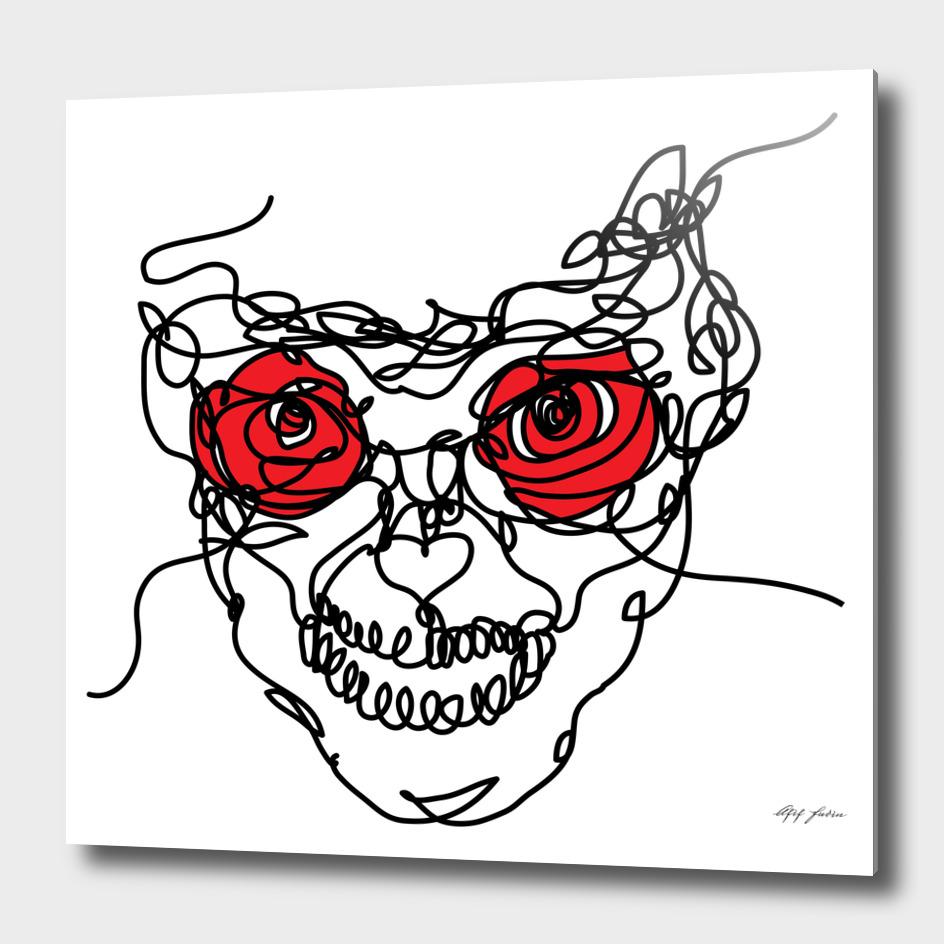 red rose eye
