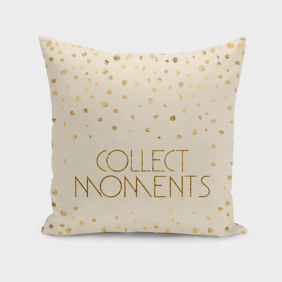 Text Art COLLECT MOMENTS | glittering gold