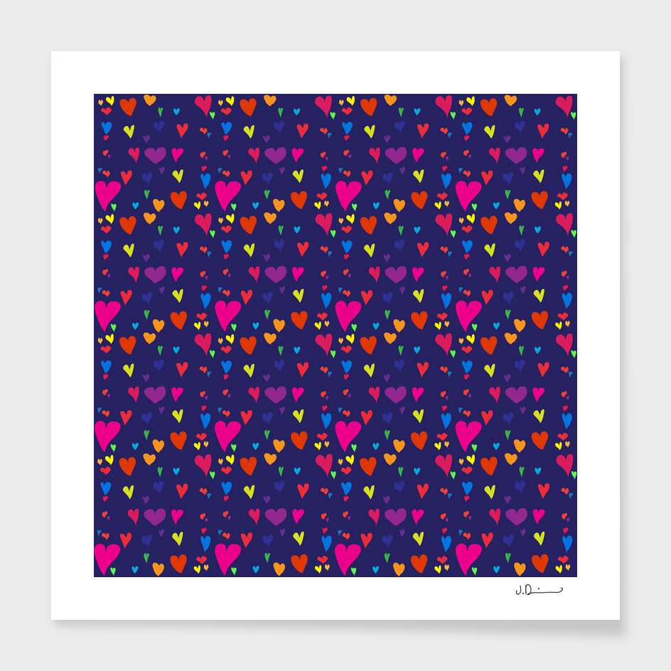 Imperfect Hearts Pattern - Original/Navy Curioos Edition