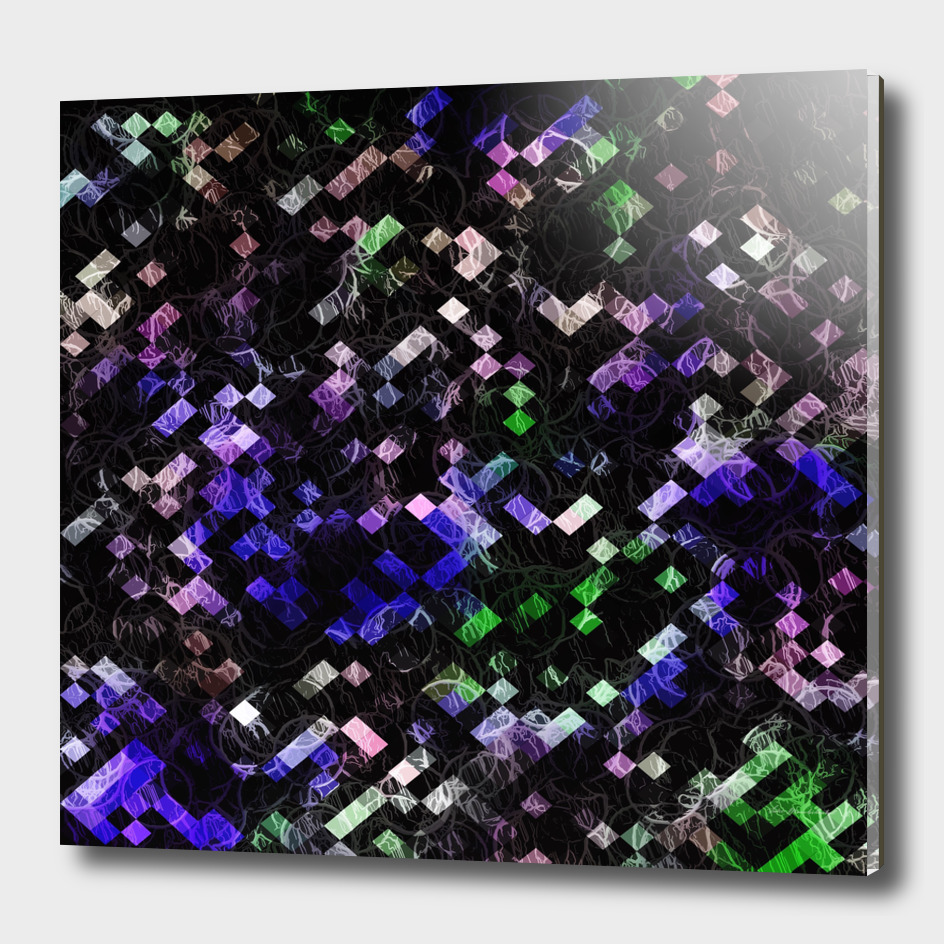 geometric square pixel pattern abstract in purple pink