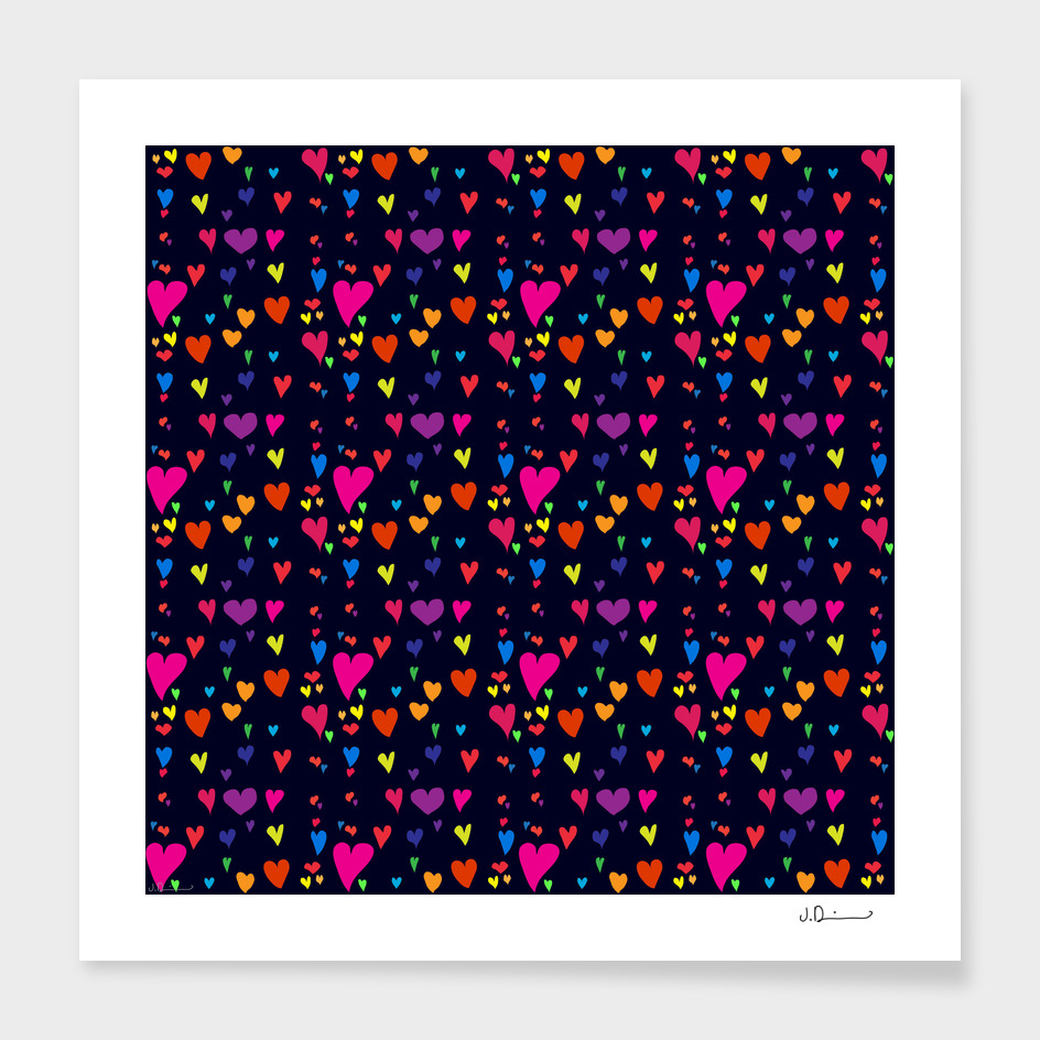 Imperfect Hearts Pattern - Original/Black