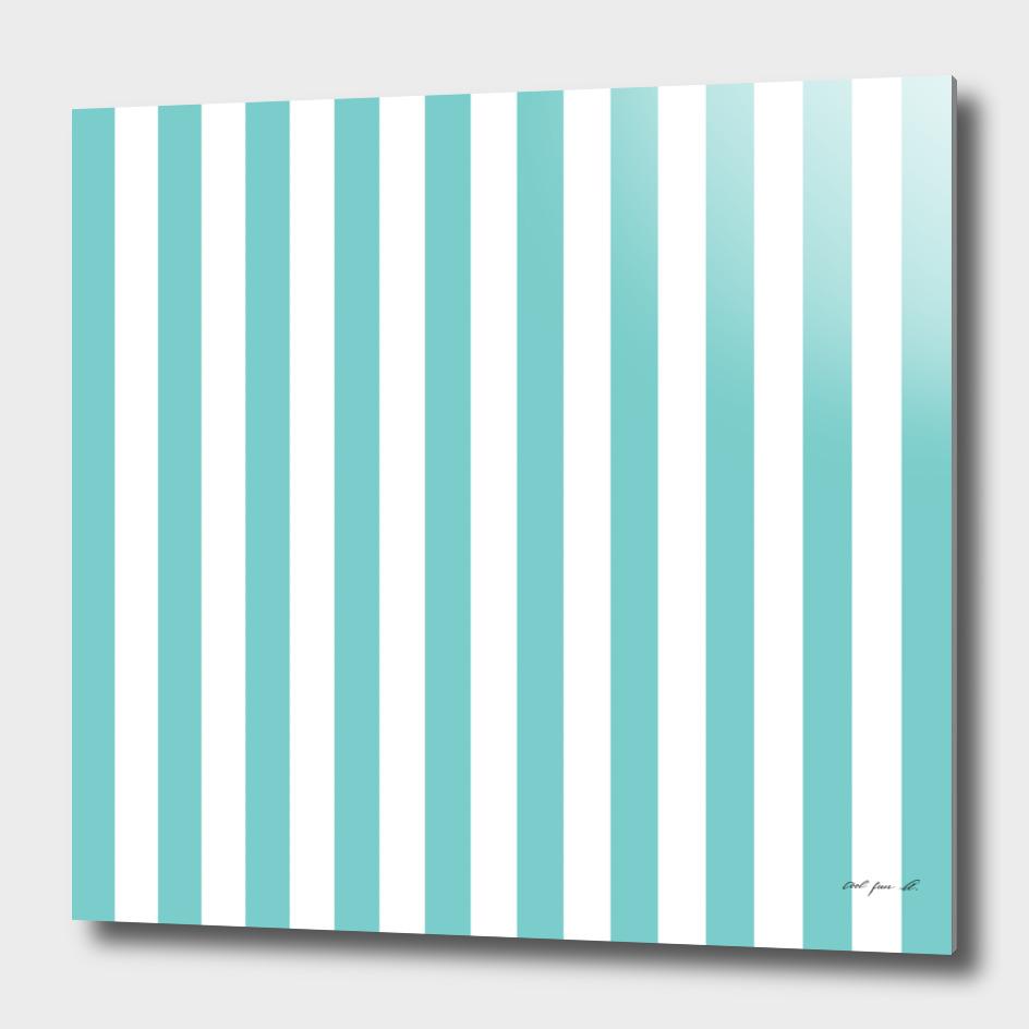Vertical Aqua Stripes