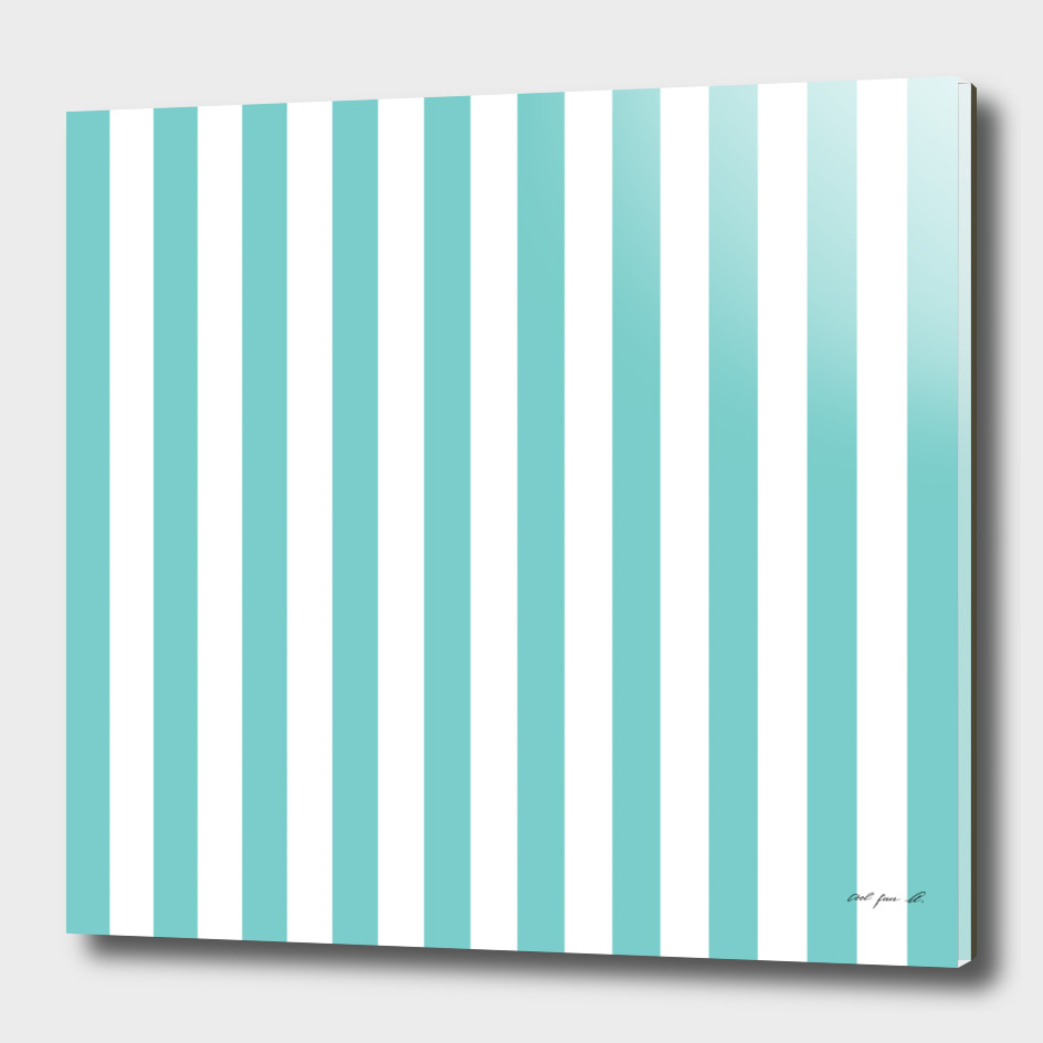 Vertical Aqua Stripes
