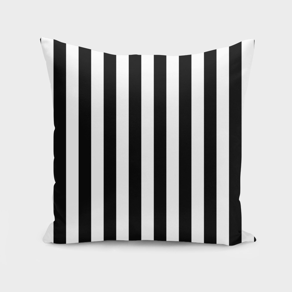 Vertical Black Stripes