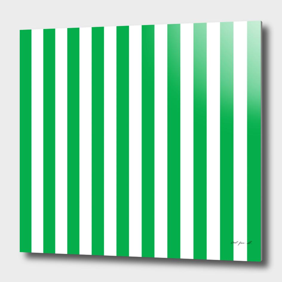 Vertical Green Stripes