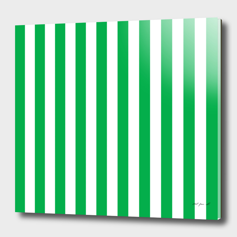 Vertical Green Stripes