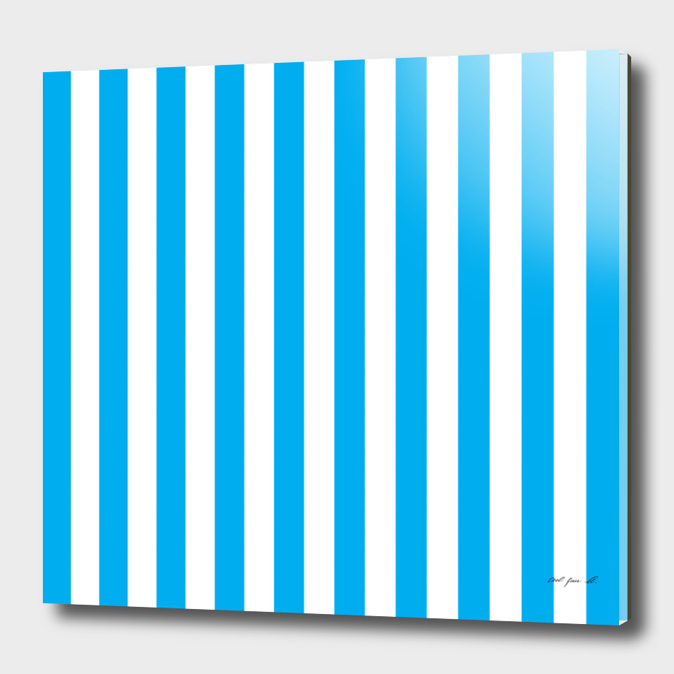 Vertical Blue Stripes