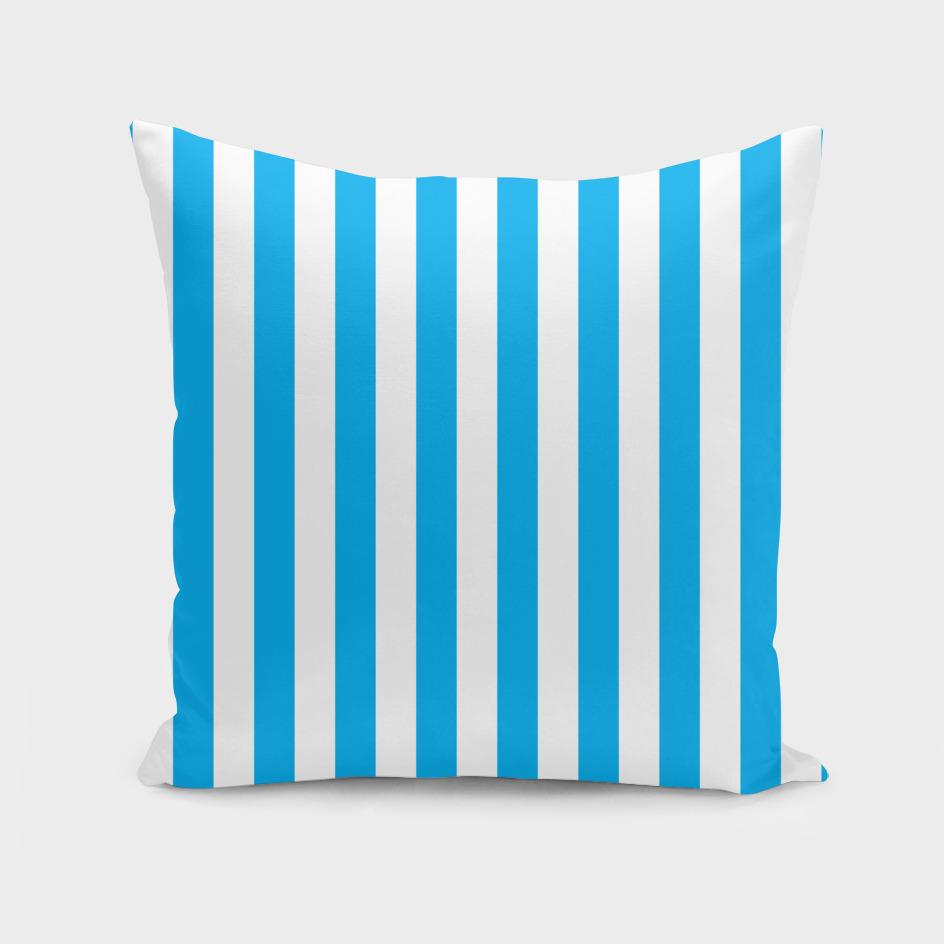 Vertical Blue Stripes