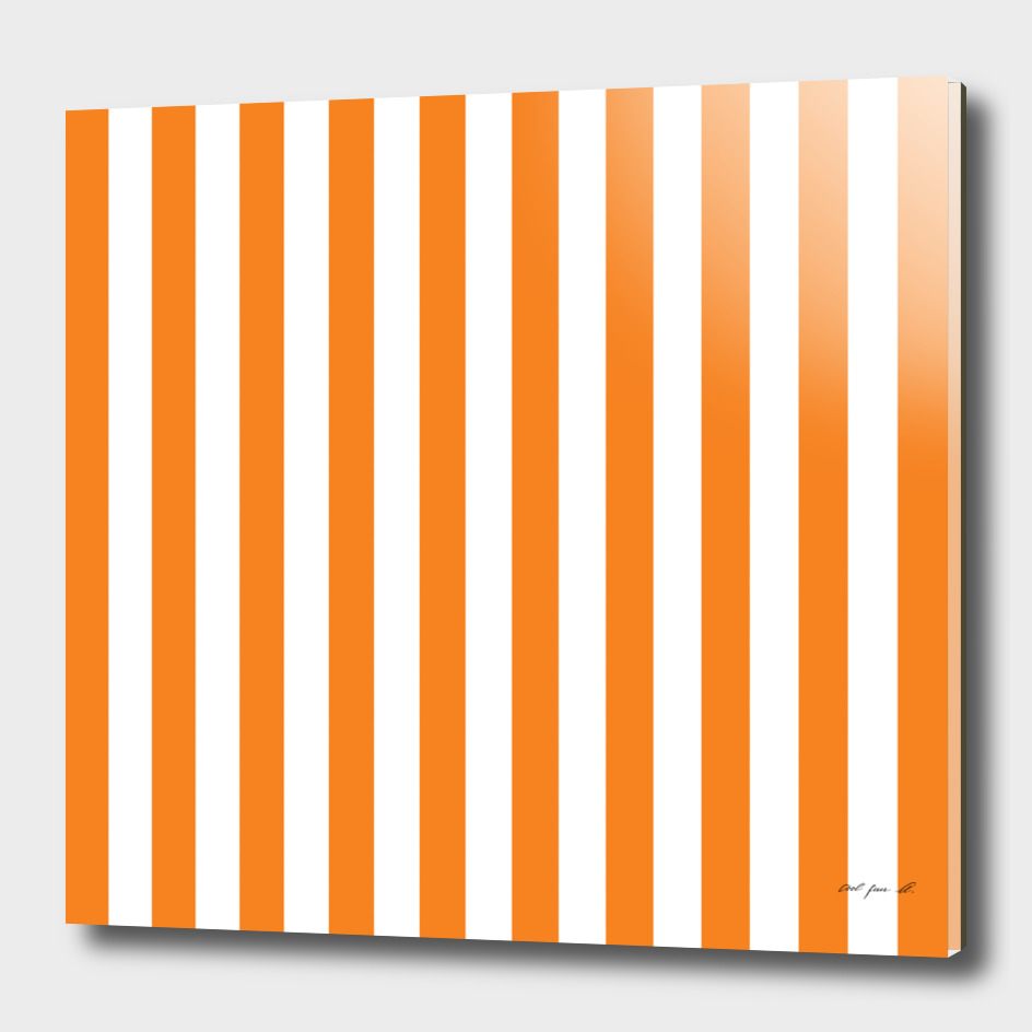 Vertical Orange Stripes