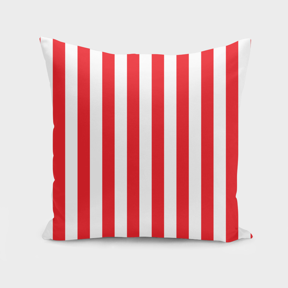 Vertical Red Stripes