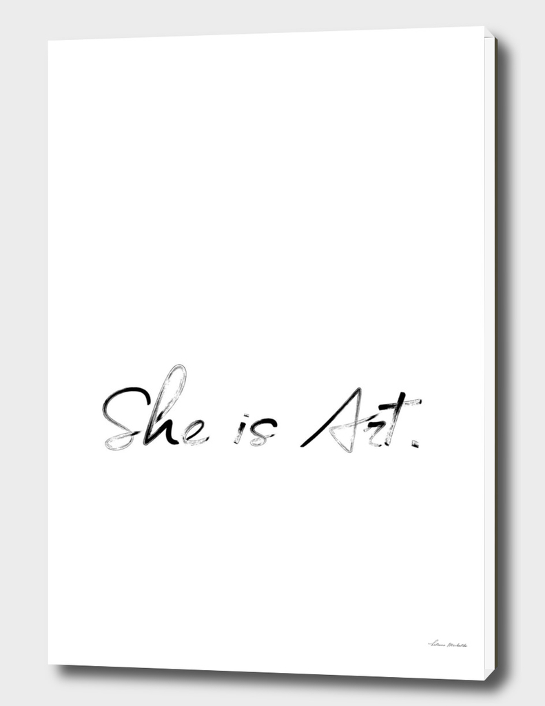 She is Art White Edition