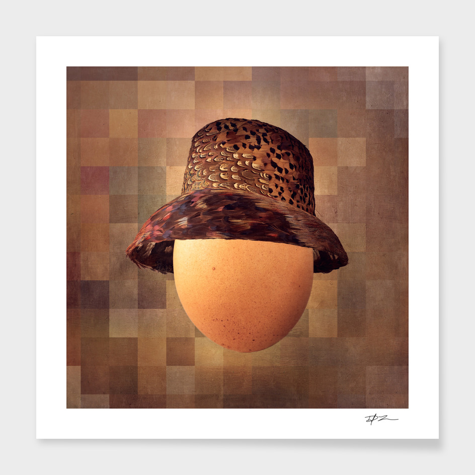 Vintage Egg in Pheasant Cloche